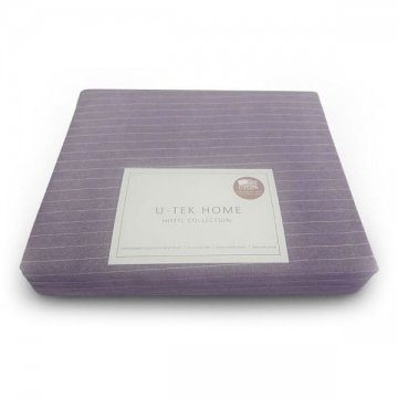 Пододеяльник Ютек Hotel Collection Cotton Stripe Plum-White