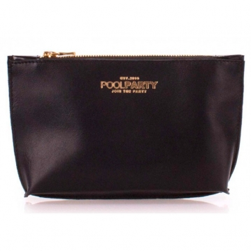 Кожаная косметичка-клатч Poolparty Pouch black