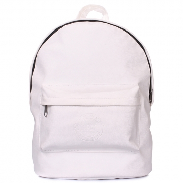 Рюкзак женский Poolparty белый backpack-pu-white